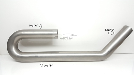 "Mandrel Bend - Stainless - 1-3/4"" on a 2"" CLR - UJ-Pipe"